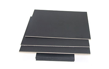 Thick Laminated black board with grey back
